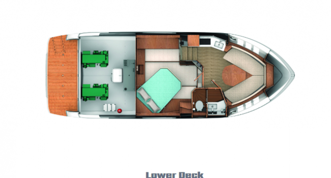 Lay Out Absolute 40 STL Lower Deck