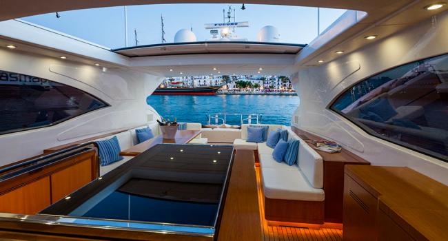Mangusta 72 Gaia Sofia Ibiza Yacht Barcoibiza Salon Cubierta