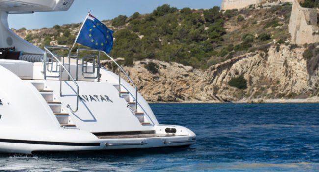 Mangusta 80 Avatar Yacht Barco Ibiza Aft 01