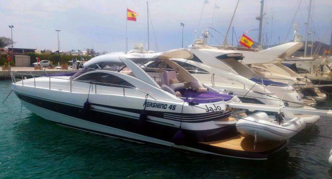 Pershing 45 Jajo Ibiza Yacht Rental Barcoibiza Alquiler Marina Ibiza