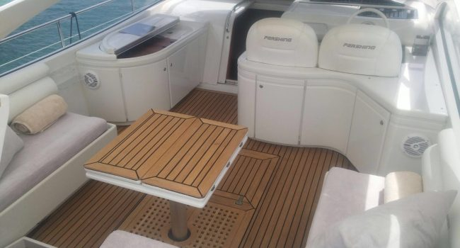 Pershing 45 Jajo Ibiza Yacht Rental Barcoibiza Alquiler Cubierta