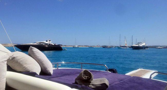 Pershing 45 Jajo Ibiza Yacht Rental Barcoibiza Alquiler Solarium Popa