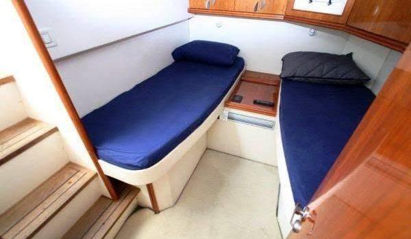 Pershing 45 Nona Ibiza Yacht Rental Boat Alquiler Barcoibiza TWIN cabin