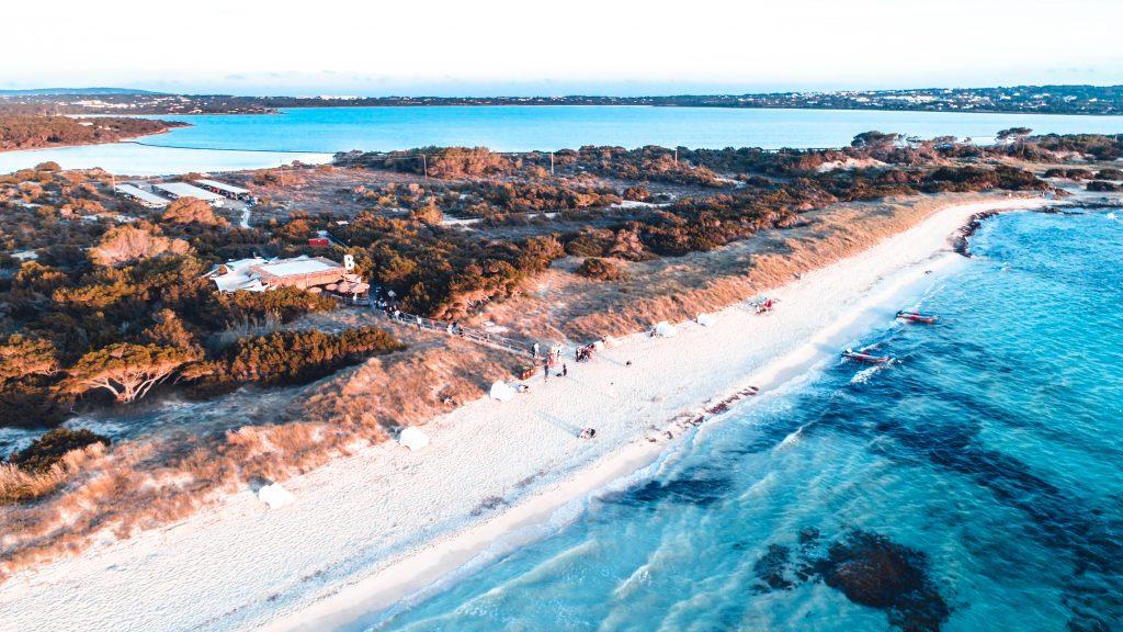 Foto aerea Formentera Illetas Beso Beach Barcoibiza