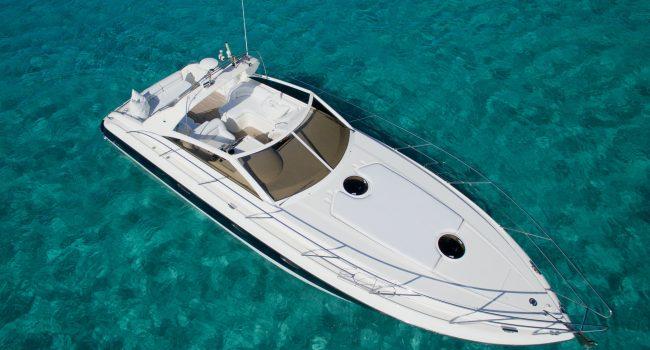 Princess V40 Cotton Yacht Boat Ibiza Rental Alquiler Barcoibiza