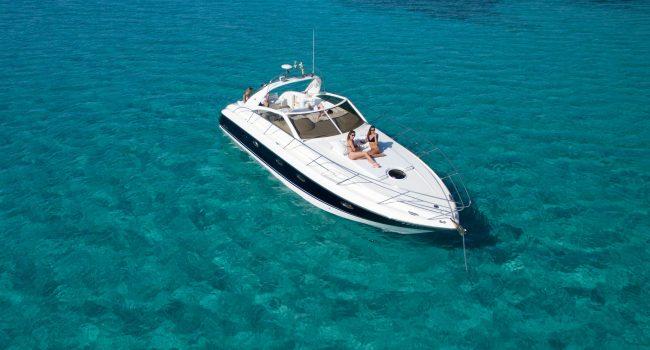 Princess V40 Cotton Yacht Boat Ibiza Rental Alquiler Barcoibiza Exterior 3