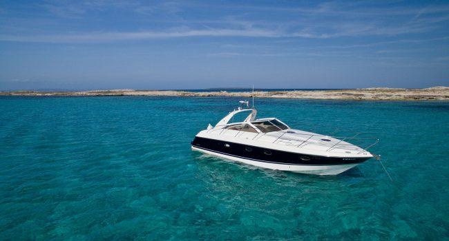 Princess V40 Cotton Yacht Boat Ibiza Rental Alquiler Barcoibiza Exterior 2