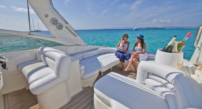 Princess V40 Cotton Yacht Boat Ibiza Rental Alquiler Barcoibiza Exterior 1