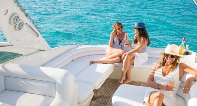 Princess V40 Cotton Yacht Boat Ibiza Rental Alquiler Barcoibiza Exterior 6