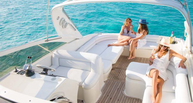 Princess V40 Cotton Yacht Boat Ibiza Rental Alquiler Barcoibiza Exterior 5