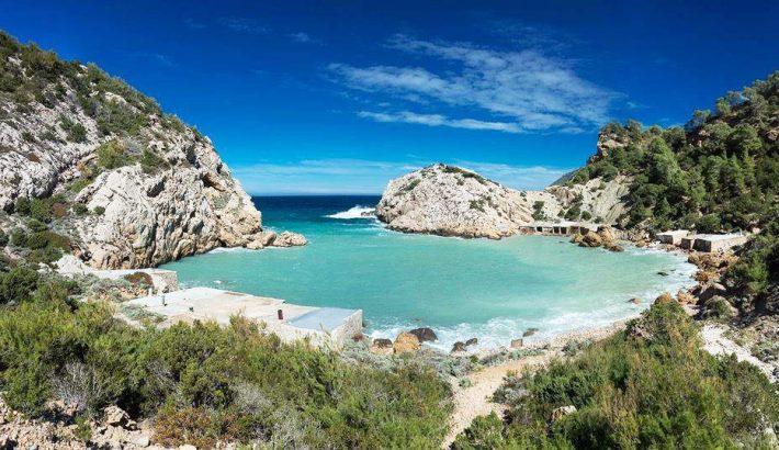 Las playas más escondidas y secretas de Ibiza.