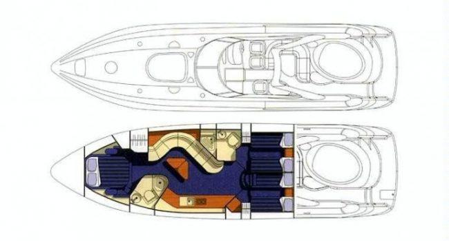 Lay Out Sunseeker Predator 58 Leo Barcoibiza Ibiza Yacht