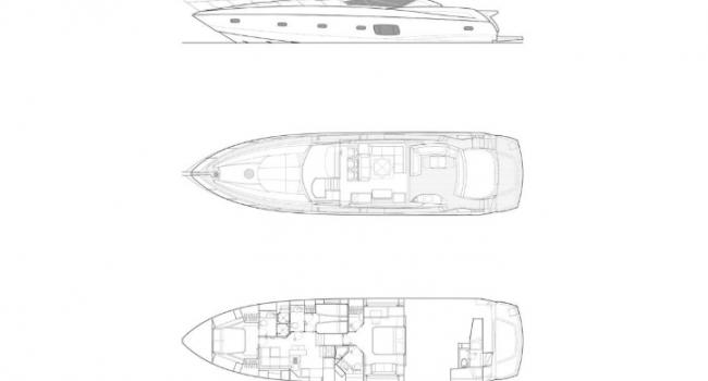 Lay Out Sunseeker Predator 74 Black Jax Ibiza Yacht Charter Barcoibiza
