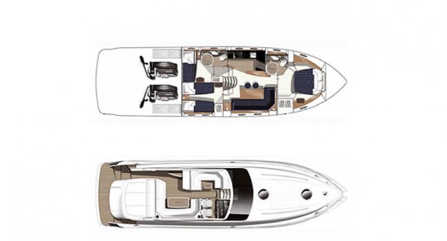 Princess V53 Manbero Ibiza Yacht Rental Barcoibiza
