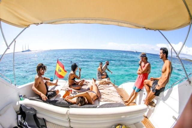 Princess V55 If Ibiza Yacht Charter Barcoibiza