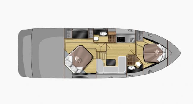 Yate Sessa Marine C44 nuevo de 2018 para alquiler Day Charter y también con pernocta a bordo.  Ofrece capacidad para 11 invitados + patrón durante el día y 4 personas durmiendo a bordo en puerto base.