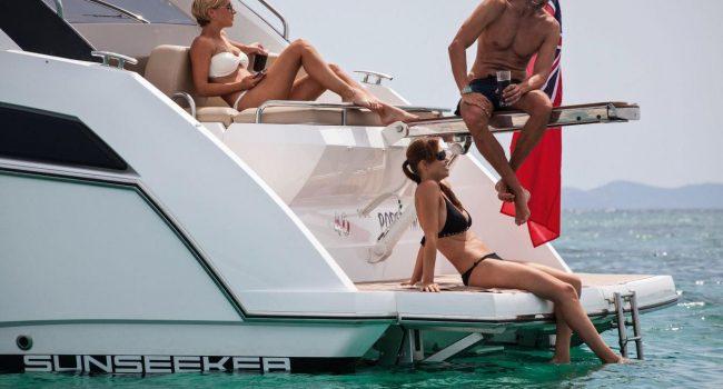 Sunseeker Portofino 40 Bear Barco Alquiler Ibiza Yacht Rental Barcoibiza Popa