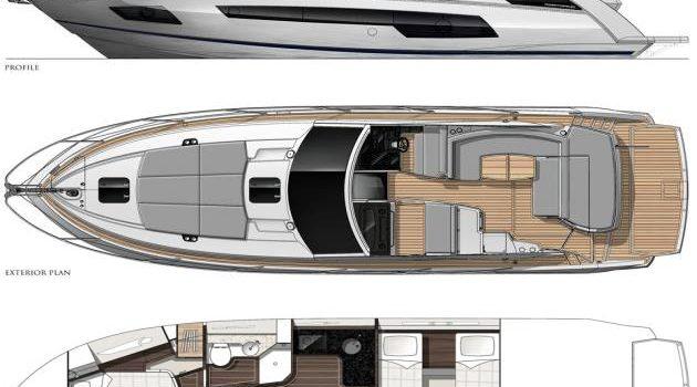 Sunseeker Portofino 40 Bear Lay out Barco Alquiler Ibiza Yacht Rental Barcoibiza