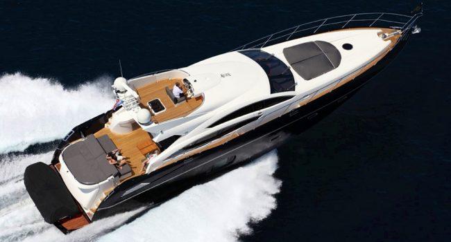 Sunseeker Predator 74 Black Jax Ibiza Yacht Barcoibiza