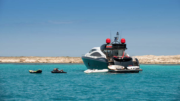 Sunseeker Predator 84 Palumba Ibiza Anchored