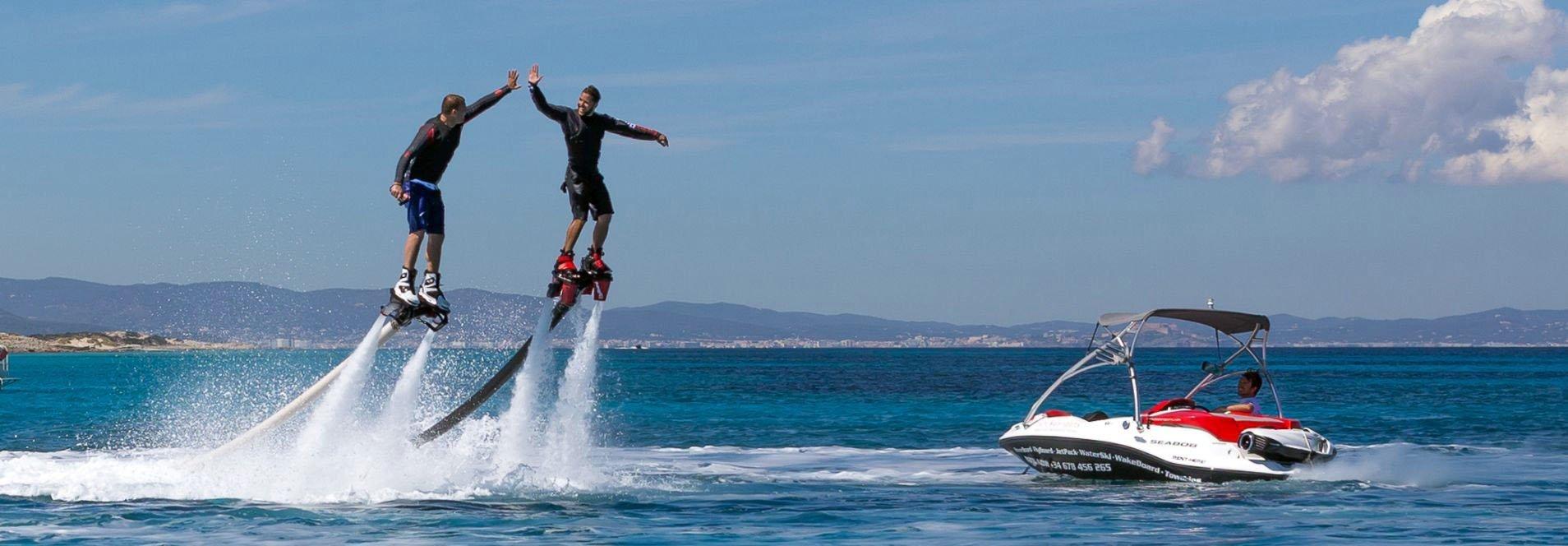 alquiler de flyboard en Ibiza actividades acuáticas