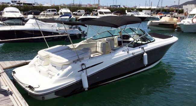Sea Ray 270 SLX Thriller Lancha Motorboat Alquiler Rental Barcoibiza-7