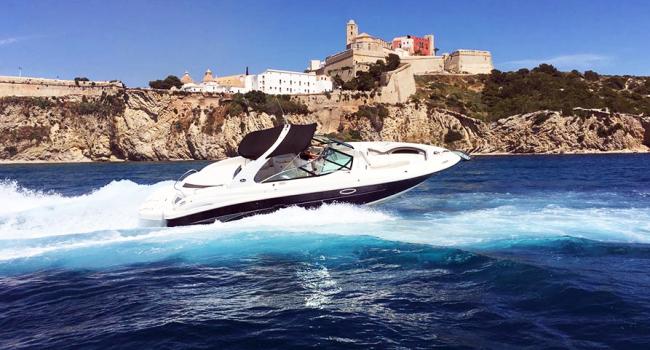 Sea Ray 290 SLX Atari Ibiza Motorboat Rental Barcoibiza