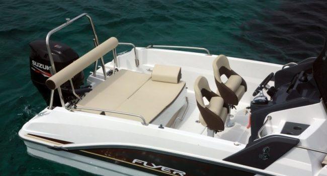 Beneteau Flyer Sundeck Bowie Lancha Motorboat Alquiler Rental Barcoibiza