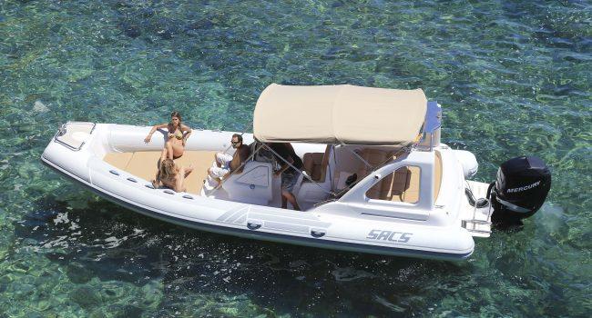 Alquiler Rental Sacs Dream Luxe 25 Pepa Pig RIB Neumática Semirrigida Barcoibiza
