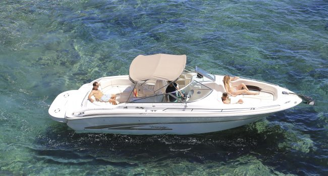 Alquiler Sea Ray 280 Bow Rider Power Tune Lancha Motora Motorboat Barcoibiza