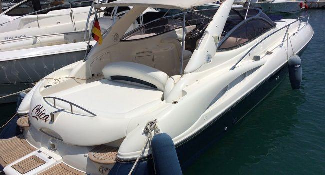 Alquiler Sunseeker Superhawk 34 Chica Ibiza Yacht Motorboat Barcoibiza