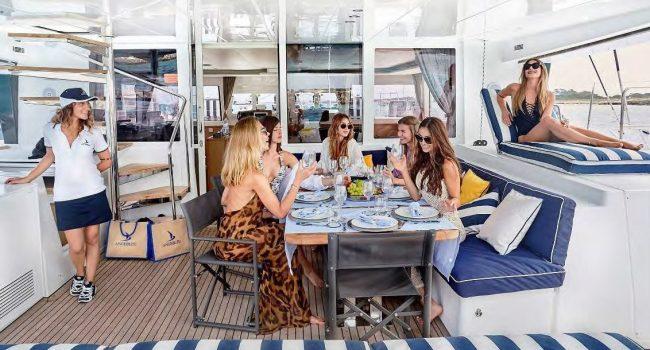 Lagoon 560 Catamaran Ange Bleu Alquiler Rental Barcoibiza
