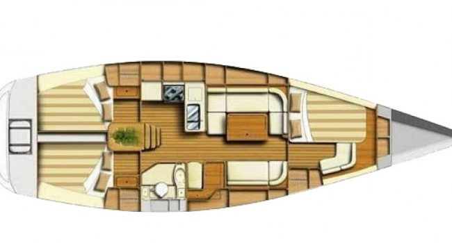Velero Dufour 40 FDO Ibiza Lay-Out
