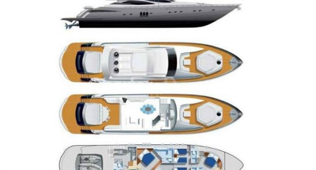 Luxury Yacht Ibiza Pershing 90 Inspiration Layout