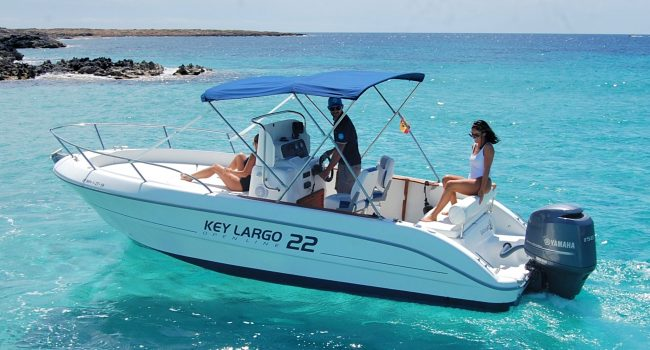 Sessa Key Largo 22 Black White Lancha Barcoibiza