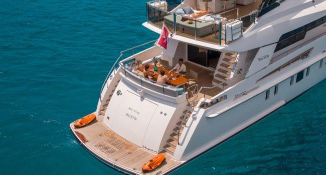 Vanquish 82 Sea Story Yacht Ibiza Boat Rental
